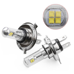 Wholesale Automobile Led Lamps - 2pcs set A18 H4 H7 80W Xenon Automobiles Car LED Lights 1500lm Auto Fog Lamp Tail Driving Bulbs Universal DRL Headlights White 6000K