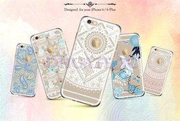 Wholesale Clear Flower Iphone Case - Clear TPU Case Retro Vintage Palace Flower Dreamcatcher Datura Mandala Elephant Bana 3D Print Soft Crystal Cover Skin for iPhone 7 6 Plus 5s