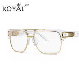 2019 oversize vintage brille großhandel ROYA-MÄDCHEN Luxus Frauen lasst Rahmen Vintage Oversize klare Linse Gläser Männer Brillen Frames Acetat Brille ss098 rabatt oversize vintage brille großhandel