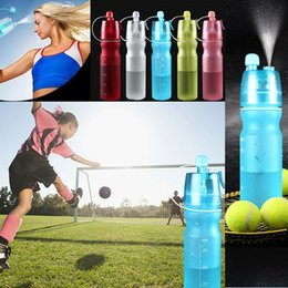 Wholesale Wholesale Mist Bottle - Creative Button Water Bottles Mist Spray Bottle Cup 450ML 600ML Portable Sports Travel Outdoor Climbing Cycling Mugs Space Cup WX-C35
