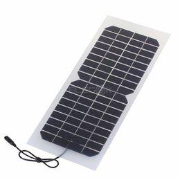 Wholesale Solar Battery Charger Dc - transparent panels ELEGEEK 10W 18 Semi-flexible Panel Charger 18V Transparent Solar panel with DC Output Crocodile Clip for 12V Battery
