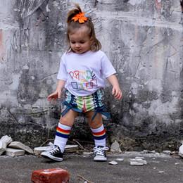 Wholesale Wholesale Rainbow Socks - New Fashion Girls Boys Socks Baby Socks Striped Rainbow Parent-Child Family Sports Socks Kids Leg Warmer Children knee High Sock A5886