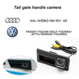 Wholesale Vw Touran - HD 170 wide angle Car CCD Car CCD car rear view camera handle Trunk for Audi VW Passat Tiguan Golf Touran Jetta Sharan Touareg Volkswagen