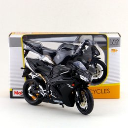 Wholesale Maisto 12 - Free Shipping Maisto 1:12 Motorcycle Japan YAMAHA YZF-R1 Diecast Toy For Collection Exquisite Educational Gift Children