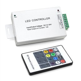 Wholesale Wireless Remote Modules - DC12V-24V 12A Wireless RF led Remote Controller 20 Key rgb led controller For SMD 5050 3528 LED Strip lights modules