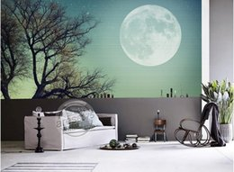 Mond zimmer tapete online-moderne Tapete für das Schlafzimmer Kundenspezifische 3D-Tapeten für Wohnzimmer Big Moon Moon 3D-Tapetenwände