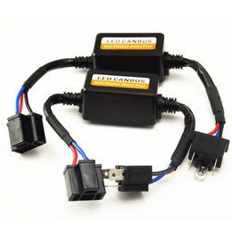 Wholesale Led Canbus Load Resistor - 2pcs h1 H4 H7 H11 LED DRL Headlight Canbus Error Warning Canceller Load Resistor Decoder H3 9005 HB3 HB4 9006 Universal
