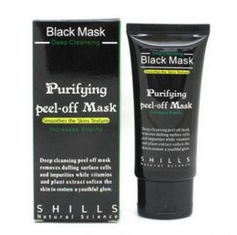 Wholesale Deep Peeling - Top quality SHILLS Deep Cleansing Black MASK 50ML Blackhead Facial Mask Shills Peel-off face Masks Gift Free Shipping