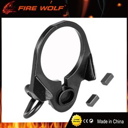 Wholesale Airsoft M4 Gbb - FIRE WOLF Airsoft M4  16 GBB End Plate Sling Mount Adapter Hunting Gun Accessories