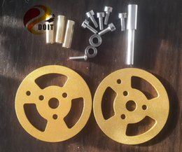 Wholesale Race Car Chassis - Wholesale- Official DOIT 6pcs lot Metal Bearing Wheel for Robot Tank Car Chassis Tracked Crawler Tracked DIY Play Racing Vehicle Model