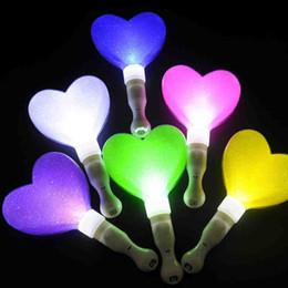 Wholesale Heart Shaped Holiday Lights - LED Flashing Stick Heart Shape Luminous Wands Light Up Toys Wedding Party Concert Supplies Decoration ZA4579