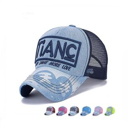 Wholesale New Genius - Brand new Spring and summer shade cowboy baseball cap men and women outdoor sunscreen hat TIANC genius hat SMB105