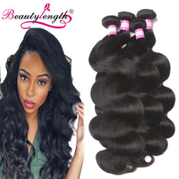 Wholesale Ali Queen - Brazilian Virgin Hair 4 Bundle Deals Unprocessed Human Hair Wefts Ali Queen Brazilian Body Wave Hair Weaves Natural Black 100g Bundle