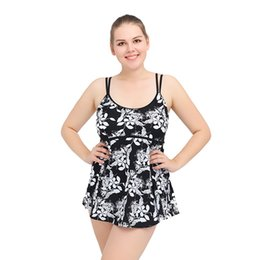 Wholesale Gathered Skirt - Gathered covered belly fission skirt suit female swimsuit Europe and the United States the plus-size fertilizer