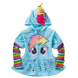 Wholesale Girls Ruffle Winter Coats - Wholesale- 1PCS New 2016 Girls Cartoon Jacket Children's Coat Cute Ruffled hem Hoodies Children casual Sweatshirts zipper jacket