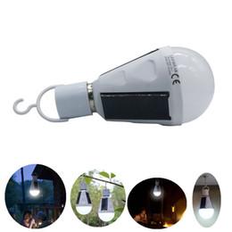 Wholesale E27 Rechargeable - Umlight1688 E27 7W Solar Lamp 85-265V Energy Saving Light LED Intelligent Lamp Rechargeable Solar Emergency Bulb Daylight