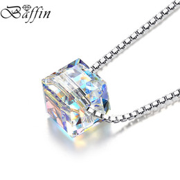 Wholesale Beads 925 Silver Swarovski - BAFFIN 925 Sterling Silver Choker Original Crystals From Swarovski Bead Necklace For Women Party Infinity Chain Jewelry