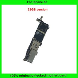 Wholesale Iphone Main Logic Board - OEM IOS system main board original 32GB logic board for iphone 5C unlock motherboard good working mainboard replacement Factory