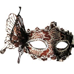 Wholesale Venice Masquerade Carnival - Upper Sexy Women Lace Mask Venice Venetian Masquerade Ball Party masks Carnival Face eyes cover for adults only
