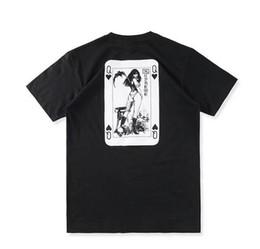 Wholesale Poker T Shirts - 2017 hip hop design unisex men Vampire queen Street classic skateboard logo poker short sleeve t shirt