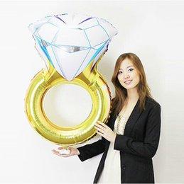 balão de diamante Desconto 30 polegada Anel De Diamante Balão De Hélio Atacado Folha De Dia Dos Namorados Balões De Noivado De Casamento Decoração de Festa de Aniversário