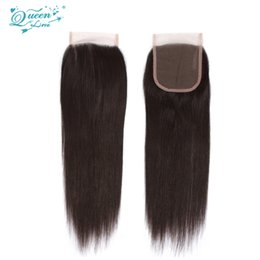 Wholesale Brazillian Hair Lace Wigs - Big Promotion Brazilian Lace Closure Straight Virgin Brazilian Straight Closure Brazillian Closure Queen Weave Beauty Virgin Hair