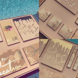 Wholesale Color Bug Set - Drop ship Kylie Vacation Edition Collection Makeup set take me on vacation,Send me more Nude,Shinny Dip,Ultra glow,the wet set,june bug