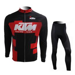 Wholesale Pants Ktm - 2017 KTM Winter cycling clothing and cycling bib pants set ropa ciclismo cycling jersey long sleeve Maillot Ciclismo 0836