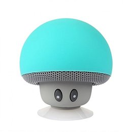 Wholesale Mini Mushroom Bluetooth Speaker - Mini Wireless Bluetooth Speaker Lifelike Cartoon Mushroom Head with Sucking Disk Bracket HQ Sound Bluetooth Compatible with phone, iphone