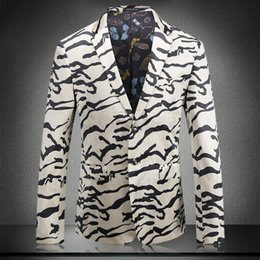 Wholesale Zebra Print Jackets - European and American women's wear 2017 New winter Long sleeve Suit is brought Zebra print velvet suit jacket