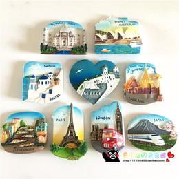 Wholesale Paris Music - ridge magnets music Travel Souvenir Scenery Paris Greece London Japan 3D High-end Fridge Magnets Travel Souvenirs Gift Refrigerator Magne...