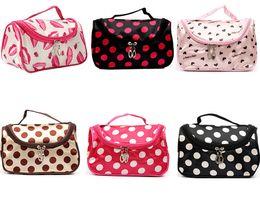 Wholesale Cheap Leopard Bag - Hot Sale 19 Colors Cheap Zipper Makeup Clutch Women's Travel Cosmetic Bag DHL Free Shipping Wholesale B007