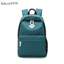"Wholesale Mini Pocket Notebook - Wholesale- Advocator 16"" Laptop Notebook Canvas Backpack Korean Portable School Backpack Bag for Teenager Girls&Boys Casual Travel Daypack"