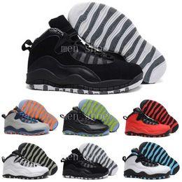 Wholesale Vivid Canvas - [With Box] Cheap New Air Retro 10 Paris NYC CHI Rio LA Hornets City Pack Vivid Pink 10s Mens Basketball Shoes Sneakers Retro X Sports Shoes
