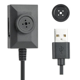 Wholesale Meter Audio - 1280*960P Mini Spy Button Camera HD Button MINI DV Camcorder With 2 Meters USB Cable 7 24 Hours Audio Video Loop Recording Black