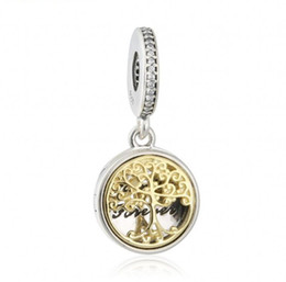 Wholesale 925 Tree - 2017 Summer Fit European Bracelet Gold Plated Family Roots Charms Pendants Tree Locket Beads 925 Sterling-Silver-Jewelry DIY Making HB689