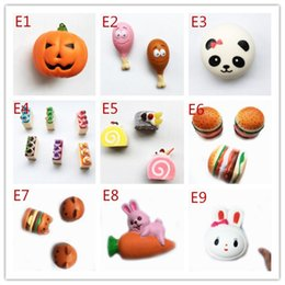 Wholesale Kid Children Cell Phone - 2017 Hot style Squishy Toy Carrot and rabbit Slow Rising Soft Squeeze Cute Cell Phone Strap gift Stress for children Decompression toys
