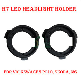 Wholesale Vw Tiguan Led - 2PCS H7 LED Headlight Conversion Kit Bulb Base Holder Adapter Retainer Socket Clip For VW POLO Tiguan Touran Lavida Sharan Lamando Octavia