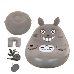 Wholesale Folding Sofas - Fashion Folding Beanbag Sofas With Footstool Totoro Bed Cartoon Mattresses Inflatable Sofa Living Room Furniture Muebles