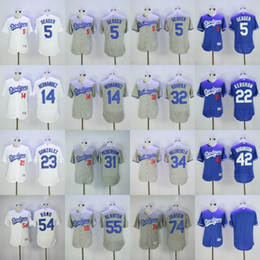 Wholesale Cheap Beige - Dodgers Jerseys Cheap Mens 5 Corey Seager 7 Julio Urias 22 Clayton Kershaw 32 Sandy Koufax 35 Cody Bellinger 42 robinson 54 Sergio Romo
