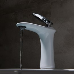 UK Basin Mixer Faucet White Painted Hot Cold Water Tapware For Bathroom Vanity Single Lever Deck Mounted DHgate Mobile