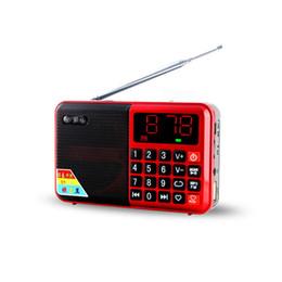 pilas bl 5c Rebajas Al por mayor-Mini Receptor de Radio FM de Tamaño de Bolsillo Con Pantalla Led Altavoz Portátil Tarjeta TF Soporte USB Con BL-5C Batería Recargable 2 Color