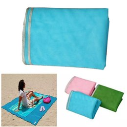 Wholesale Mat Camp - Sand Free Beach Mat Camping Outdoor Picnic Mattress Beach Mats Summer Beach Pads 200*145CM Free DHL