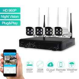 Wholesale Ip Cameras Kit - 4CH CCTV Camera System waterproof wifi nvr kit camera Wireless wifi ip camera nvr kit 720P 1T HHD included