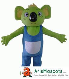 Wholesale Mascot Animal Costume Koala - Green Koala bear mascot costume Animal mascots fancy dress costumes advertising mascots carnival party dress