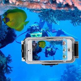 Wholesale Angle Photography - 40m 130FT Underwater Photography Waterproof Photo Housing Underwater TPU Gel Diving Case With wide-angle lenses For iPhone6 6S 4.7""