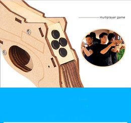 Wholesale Play Gun Game - Hot AR Game Gun Play 3D AR VR Games Console with AR Games App Wireless Bluetooth For iPhone Android Smart Phone With Stand Holder