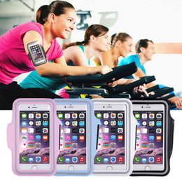 Wholesale Sports Cell Phone Covers - Wholesale- Adjustable and light weight GYM Armband Pouch Case for Cell Phone Sports Exercise Running Durable Holder Cover Phone Bag