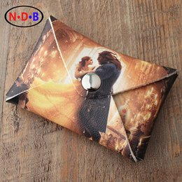 Wholesale Western Purses Wallets - Wholesale- (Coin Purses) 2017 Western New pattern coin purse beauty and the beast image Coin bag Card package Student fashion zero wallet