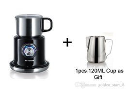 Wholesale Coffee Maker Milk Frother - 220-240V Full-Automatic Four Gears 700ML Milk Foam Machine Frother For Coffee Household Milk bubble machine + 1 PCS cup as gift